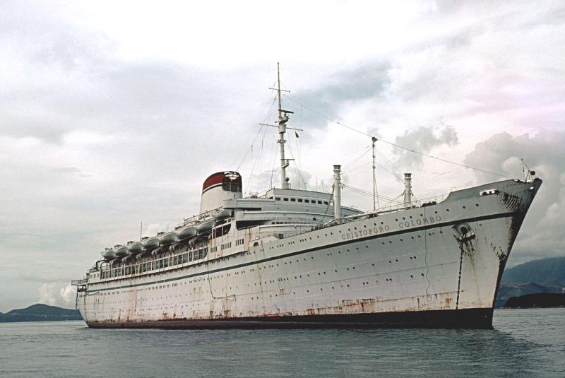 'Cristoforo Colombo' - Italia nav. - 1953 028bia10