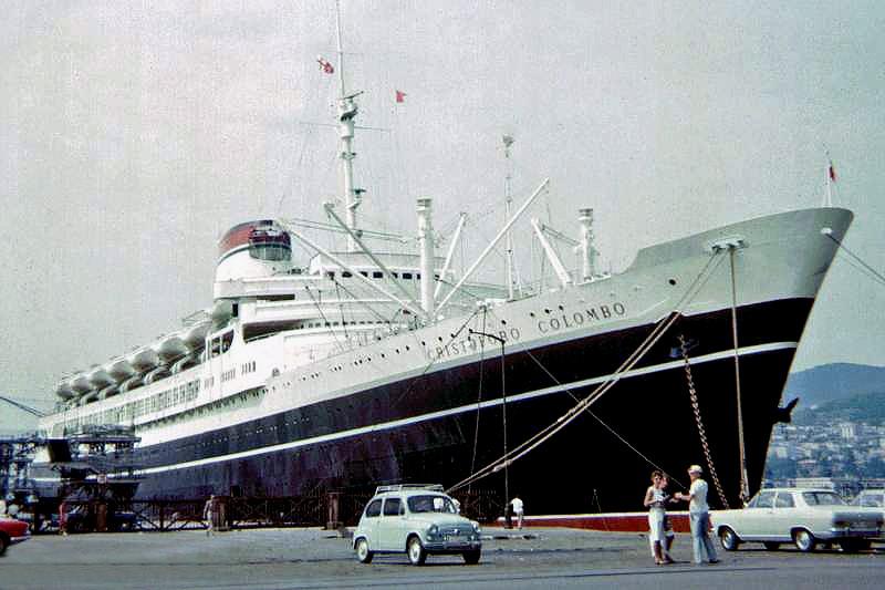 'Cristoforo Colombo' - Italia nav. - 1953 029ner10