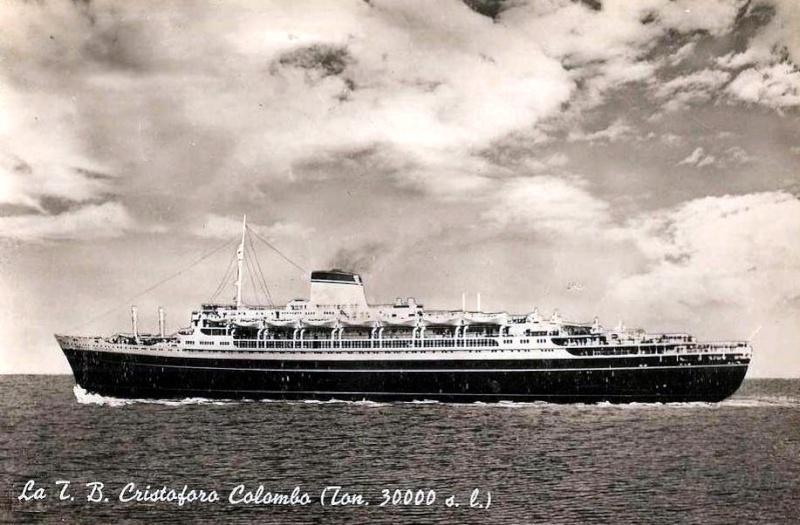 'Cristoforo Colombo' - Italia nav. - 1953 031ner10
