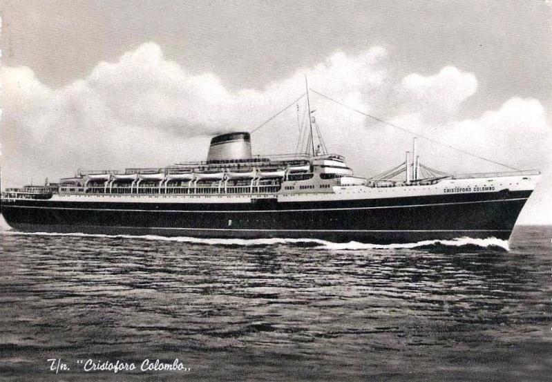 'Cristoforo Colombo' - Italia nav. - 1953 032ner10