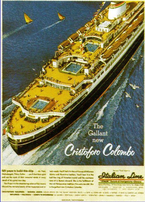 'Cristoforo Colombo' - Italia nav. - 1953 036ane10