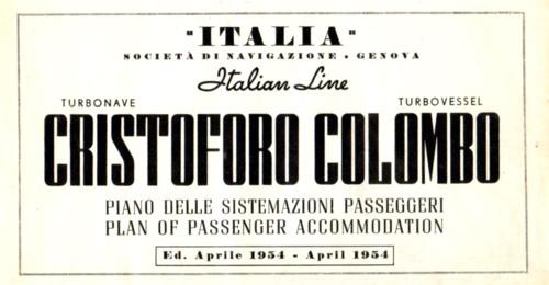'Cristoforo Colombo' - Italia nav. - 1953 039ane10