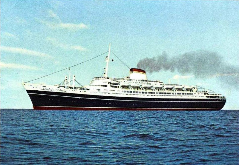 'Cristoforo Colombo' - Italia nav. - 1953 041ner10