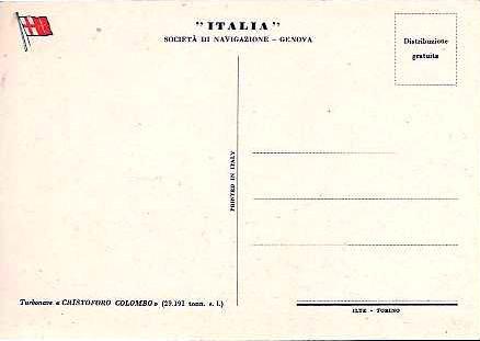 'Cristoforo Colombo' - Italia nav. - 1953 047ner11