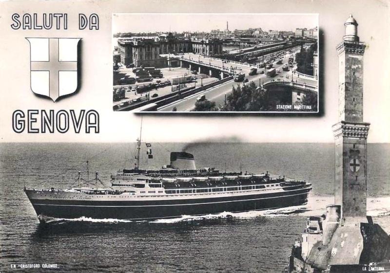 'Cristoforo Colombo' - Italia nav. - 1953 049ner10