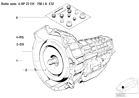 [ BMW e32 750 IAL v12 an 1989 ] Problème (électronique?) B.V.A, plus aucun rapport de boite 24_e_311