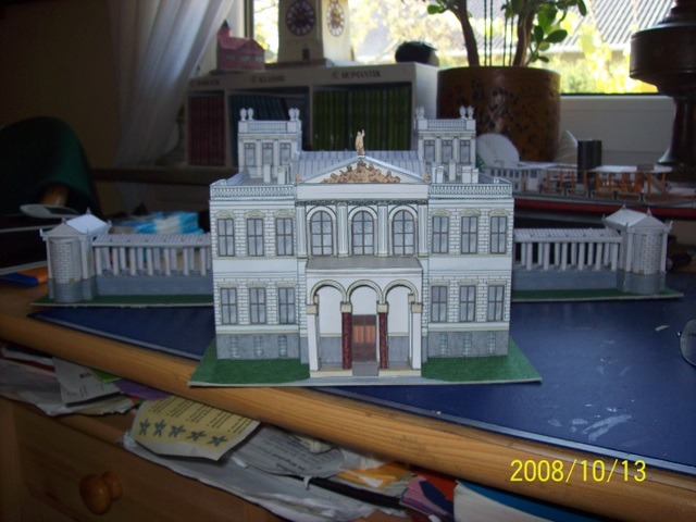 Schloss Dwasieden Rügen 1:160 N  Bokensdorfer Kartonmodelle /Galeriebilder 105_1315