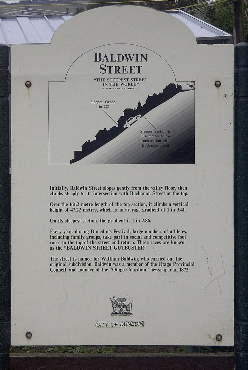 Baldwin Street : la rue la plus pentue du monde, Dunedin - Nouvelle Zélande Baldwi10