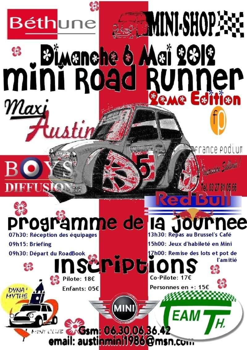 Mini Road Runner 2eme édition - Dimanche 6 mai 2012 - Béthune Affich11