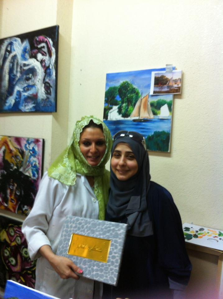 ورشة رسم للفنانة غدير حافظ في مركز إبداع الغدير للفنون بجده للجنة ارتباط المهندسين الاردنية 53485810