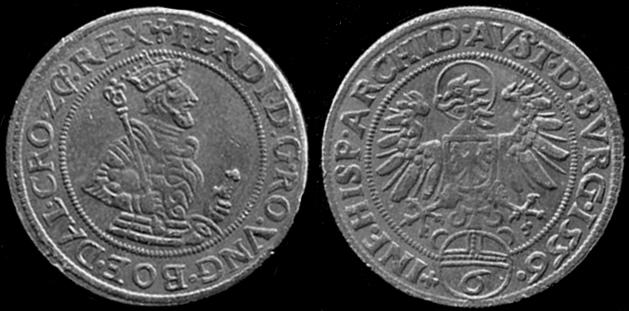 6 Kreutzer de Ferdinand 1er 1556, repro ou pas ??? Ferdin10