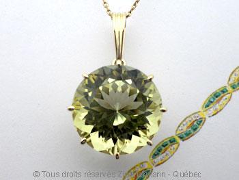 Pendentif Green Gold Citrine de 16,3 mm Peof1339