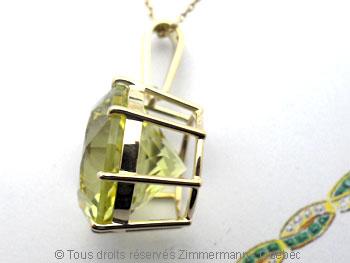 Pendentif Green Gold Citrine de 16,3 mm Peof1340
