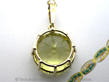 Pendentif Green Gold Citrine de 16,3 mm Peof1341