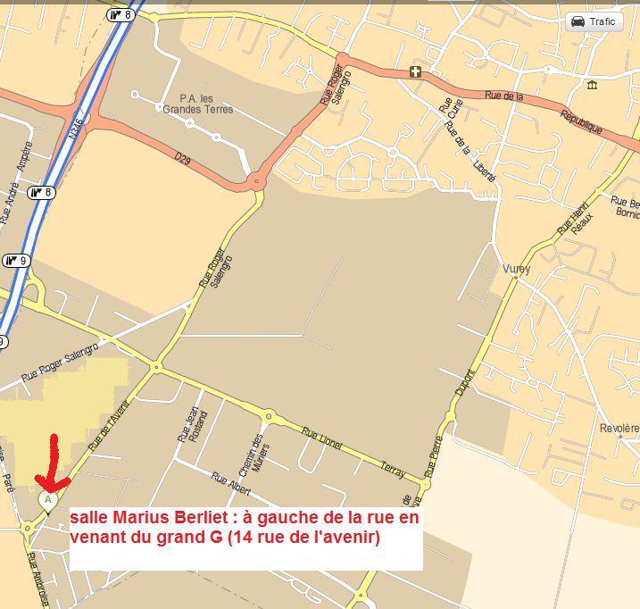 réunion/repas festifs de fin d'année le jeudi 5 juillet à 18h30 à la salle Marius Berliet Plan_p11