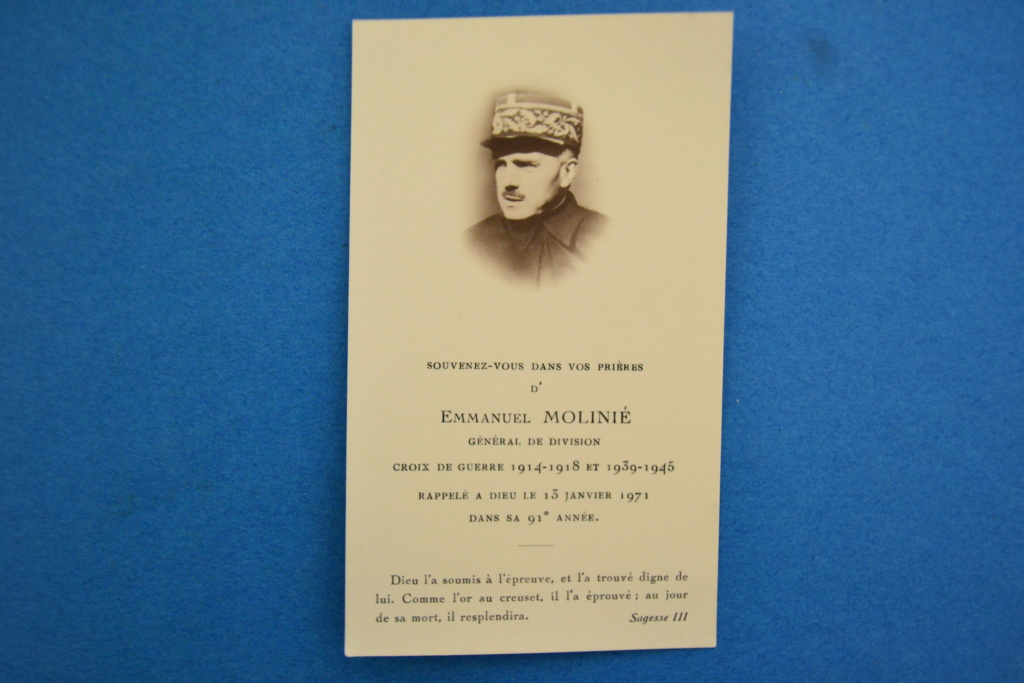 Général Molinié, 25e DIM : carte mortuaire Dsc_0515