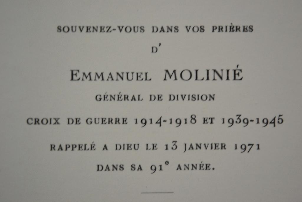 Général Molinié, 25e DIM : carte mortuaire Dsc_0517