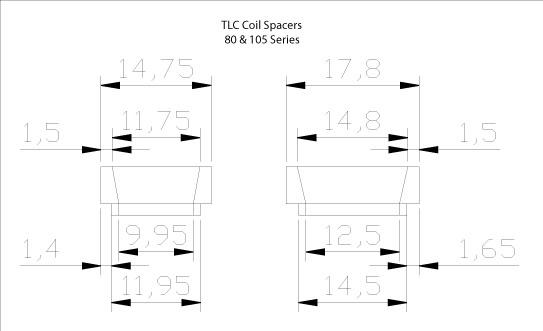 Côtes pour cales de ressorts Tlc-sp10