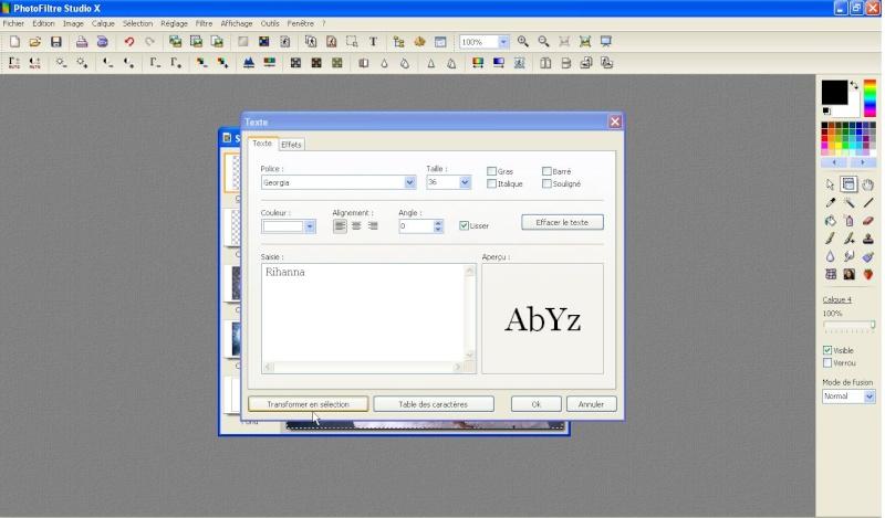 Exemple de montage avec découpage parfait + texte dégradé Captur17
