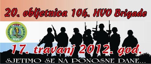 20. obljetnica 104. HVO brigade Index10