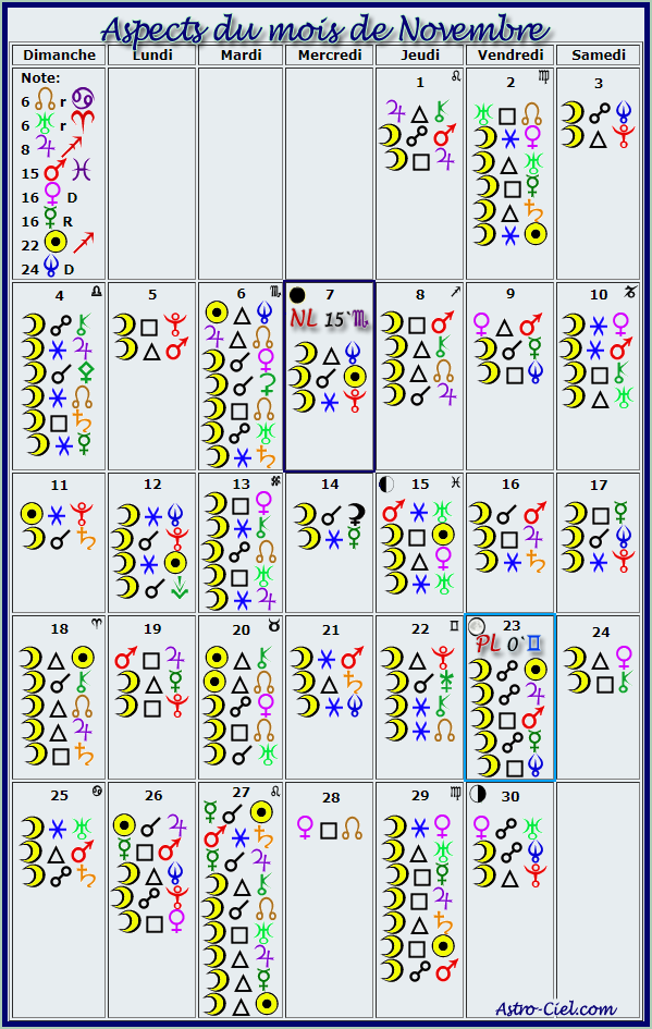Aspects du mois de Novembre - Page 5 Calend20