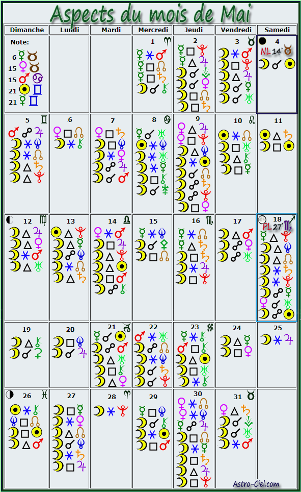 Aspects du mois de Mai - Page 3 Calend35