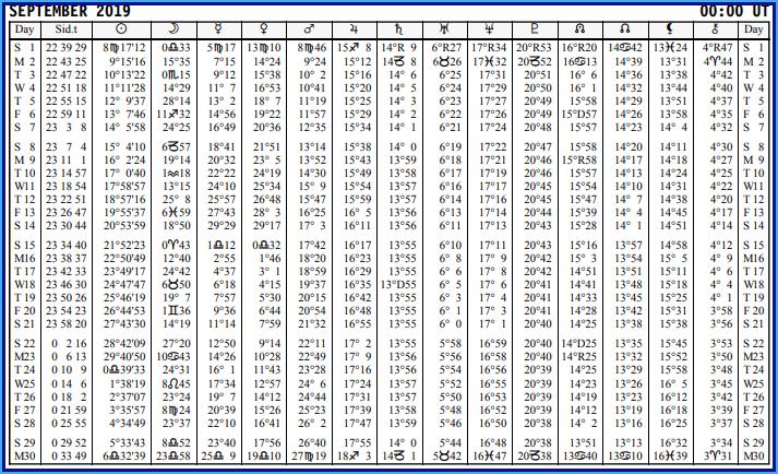 Aspects du mois de Septembre - Page 4 Calend46