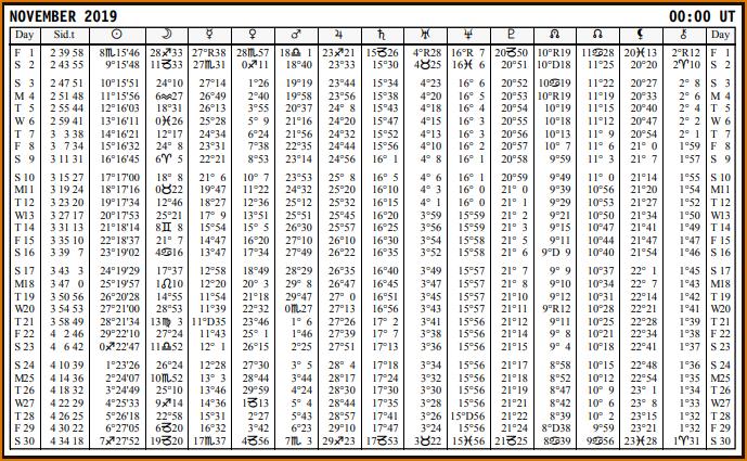 Aspects du mois de Novembre - Page 4 Calend51