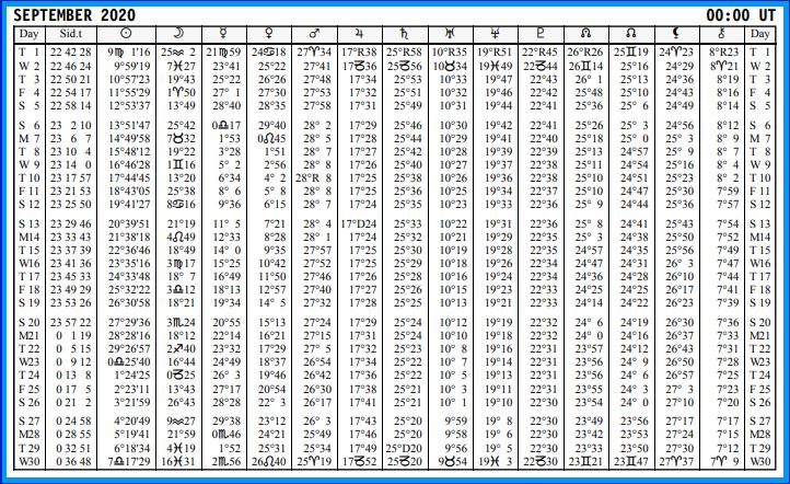Aspects du mois de Septembre - Page 11 Calend72