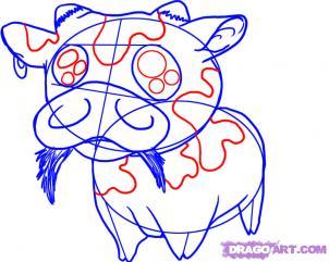 [TÀI NGUYÊN] Vẽ một chú bò sữa cực dễ thương ^^ Bocon610