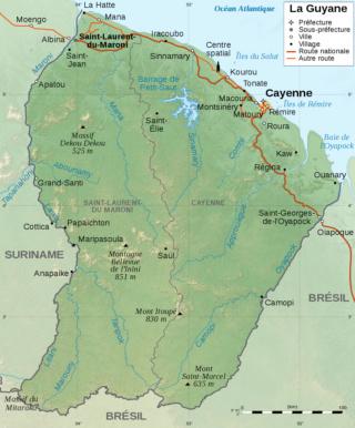 Ecovillage en Guyane française Carteg13