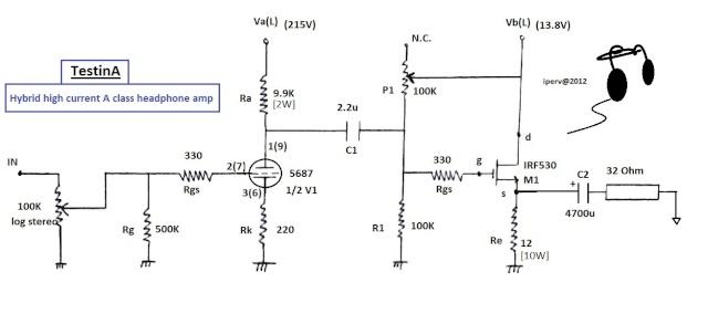 'TestinA': Hybrid high current A class headphone ampli Testin17