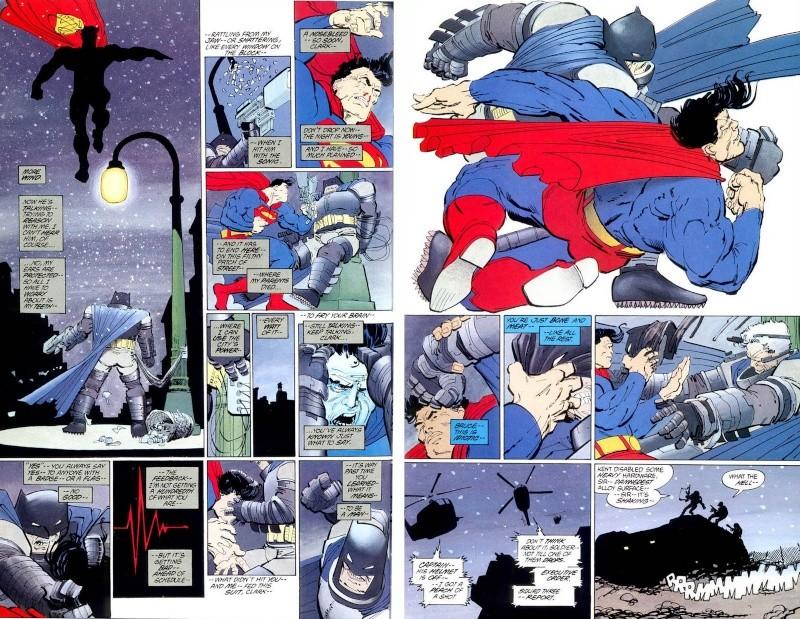 THE DARK KNIGHT RETURNS - Superman VS Batman Statue  Batman10