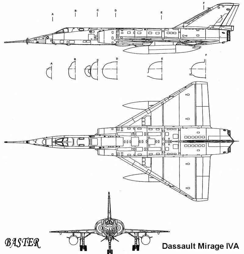 MIRAGE IV P Heller 1/48 Plan0110
