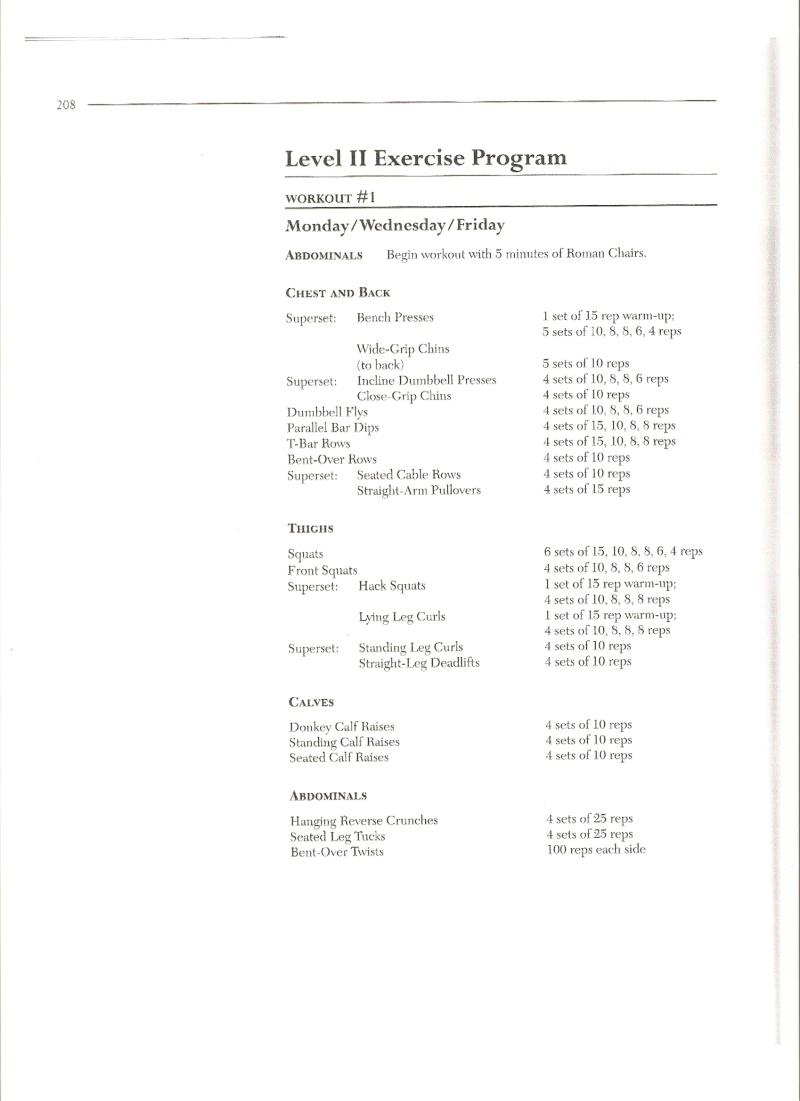 Exemples d'entraînements Old School Numari14