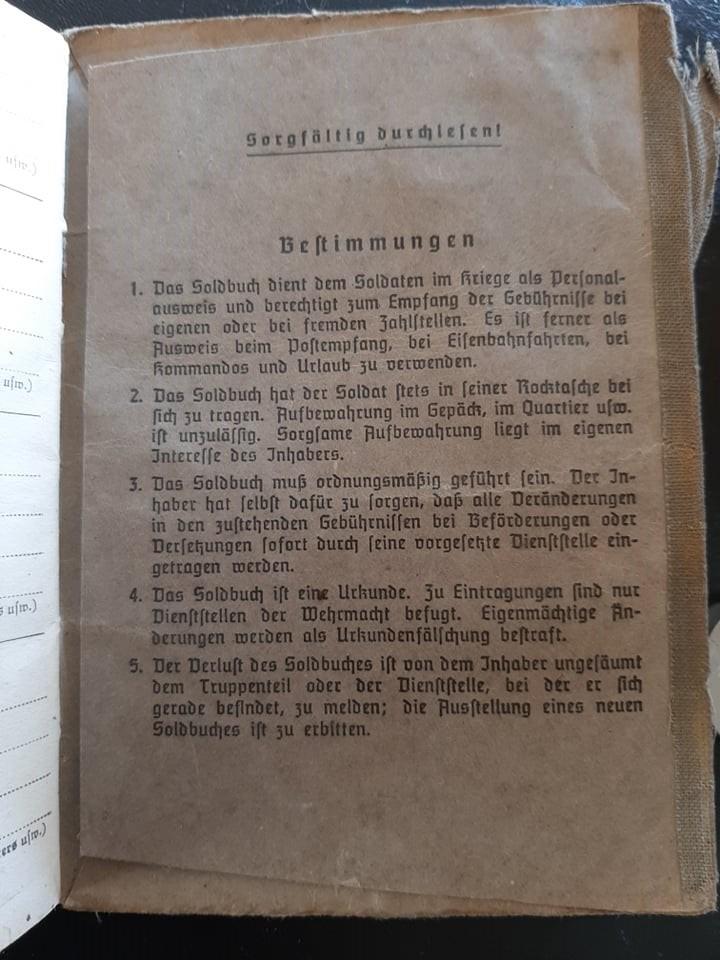 """Soldbuch  SS Pionier """" HOHENSTAUFEN """" 83897110"""
