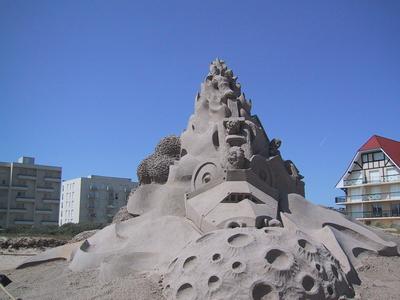 STREET VIEW : concours de châteaux de sable Sondervig Danemark 123-2311