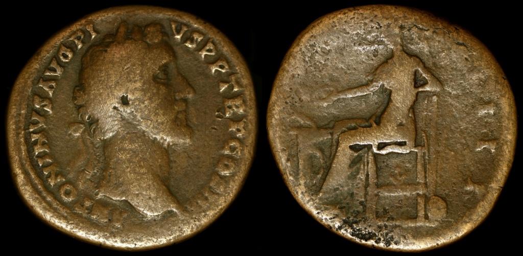 Sesterce Antonin le pieux à identifier svp 3410