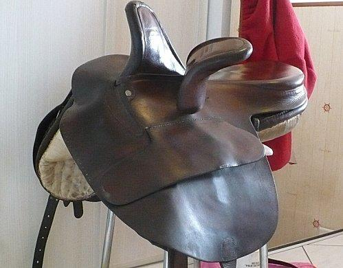 Une cavalière pratiquant, entre autres, l'équitation en amazone 29508710