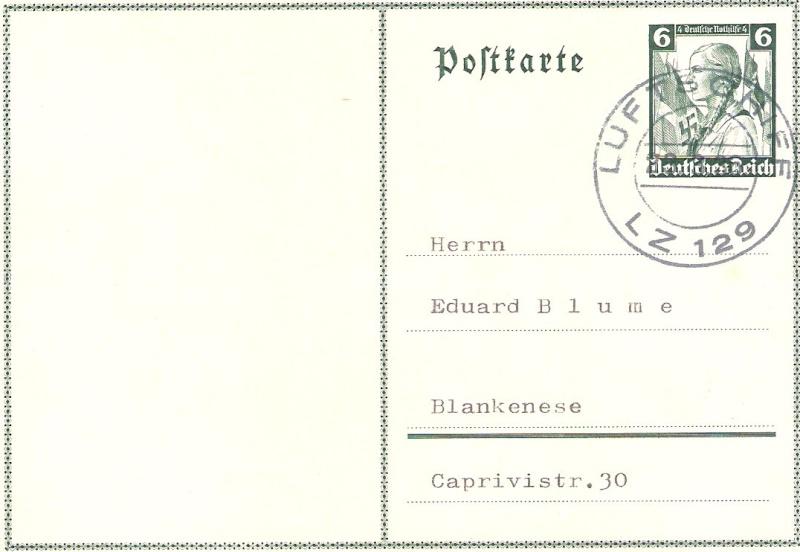 Zeppelinpost mit Zusammendrucken 401baf10