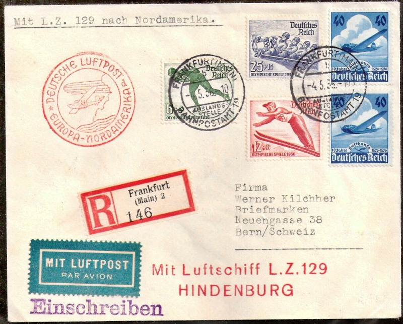 Zeppelinpost des LZ 129 406d10