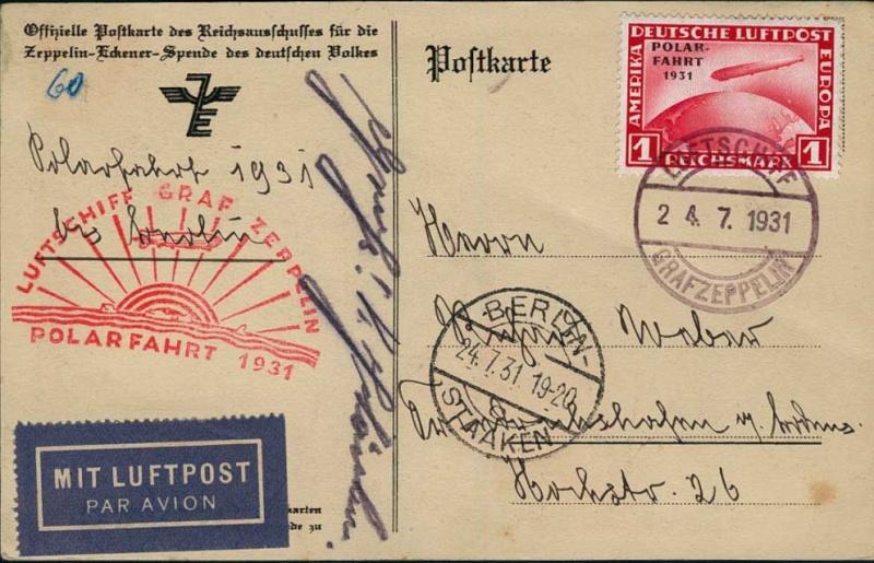 50 Jahre Polarfahrt Luftschiff Graf Zeppelin Polarb10