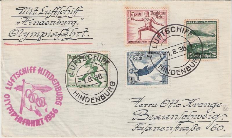 LZ 129 Hindenburg und Olympia 1936 Scann154