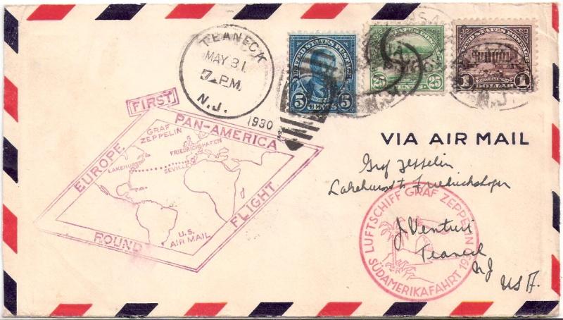 """Südamerikafahrt 1930 (Rundfahrt-) Post nach Friedrichshafen"""" - Seite 3 Scanne91"""