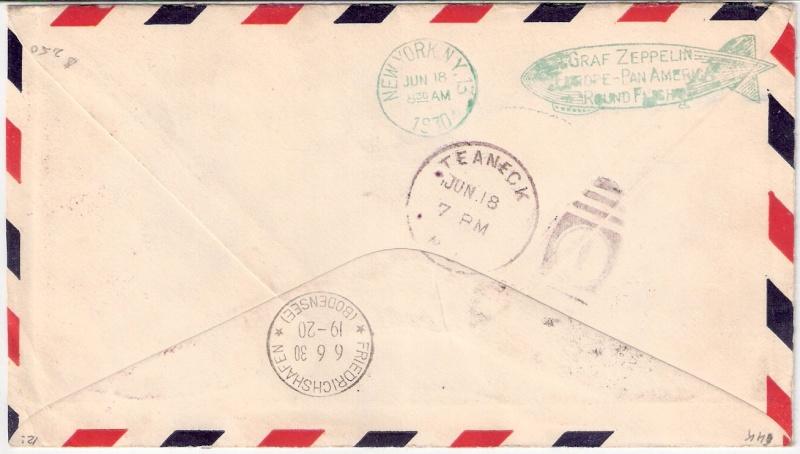 """Südamerikafahrt 1930 (Rundfahrt-) Post nach Friedrichshafen"""" - Seite 3 Scanne92"""