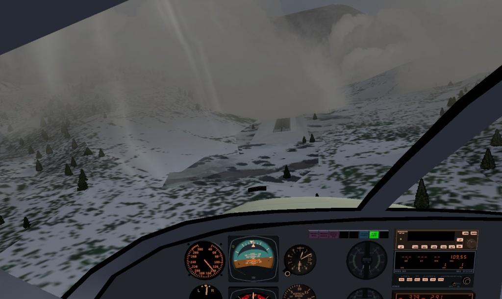 landing Megeve ( LFHM ) en condition réelle. Fgfs-140