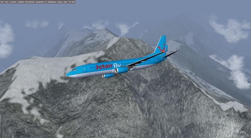 Survol Mont Blanc  B 737 800  Fgfs-s25