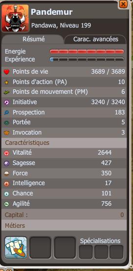 Pandemur panda air lvl 199 !  Stats_11