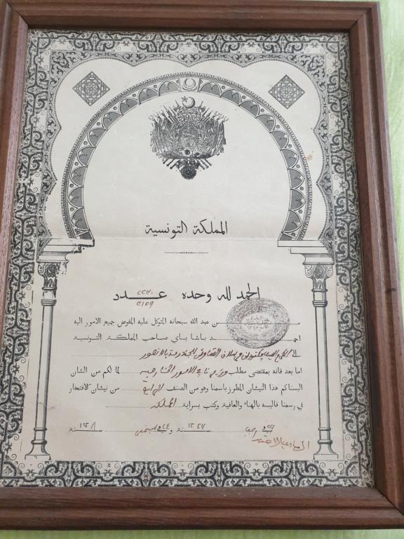 Diplome Ordre du Nichan Iftikhar        20201013