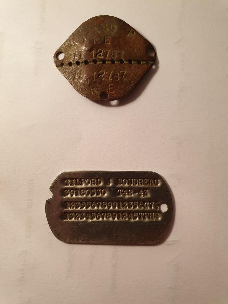 Plaque identité francaise post WWII et US WWII Img_2818